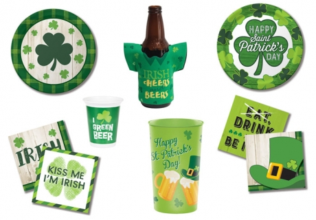 Irische Party-Dekoration zum St. Patrick's Day aus dem Pink Dots Partystore