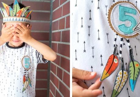 Werde für die Indianerparty kreativ und bastle deinen eigenen Federschmuck! (c) mamigurumi