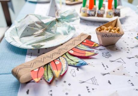 Indianerparty - tolle Accessoires für Deko und Programm findest du bei uns im Shop! (c) mamigurumi