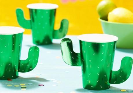 Genial - Lass deine Gäste aus stylischen Kaktus-Bechern trinken