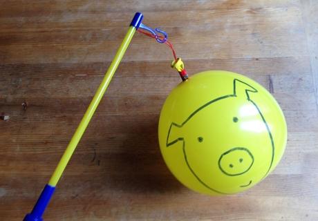Die superschnelle DIY-Variante für St.Martin - Ballonlaterne zum Anmalen (c) Fotokasten