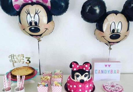 Feier einen Kindergeburtstag mit Mickey und Minnie Maus (c) caro_und_reisemaus