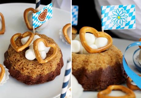 Lieblingsrezept fürs eigene Oktoberfest: Brownie-Gugl mit Salzbrezel-Kruste (c) Mareike Winter - Biskuitwerkstatt