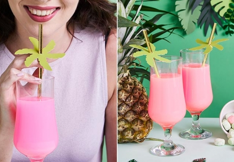 Statte deine Sommerparty mit passenden Palmen-Strohhalmen aus - ein Hingucker!