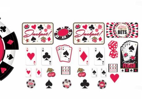 Für Gambler und Wetteifrige - Partydeko im rotschwarzen Casino-Design