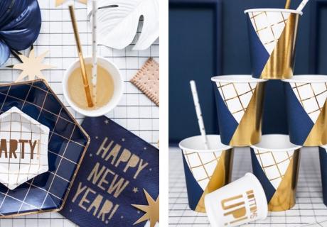 Happy New Year - Partygeschirr mit Aufschrift schafft Silvesterstimmung