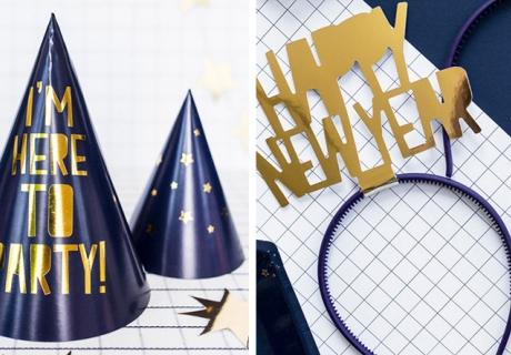 Die Silvesterparty wird lustig mit glänzenden Partyaccessoires für dich und deine Freunde
