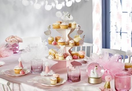 """Geburtstagsdeko """"Schwan Pastell"""" mit Schwanen-Motiv - wunderschön und toll kombinierbar"""