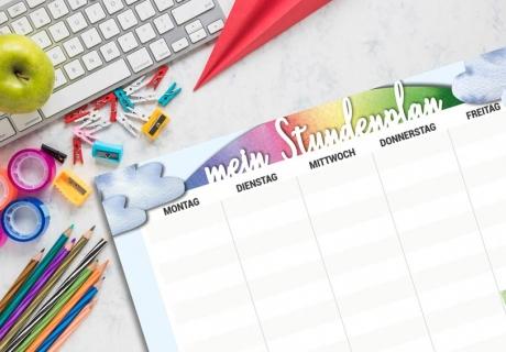 Mit einem schönen Stundenplan wächst die Vorfreude auf den Schulanfang