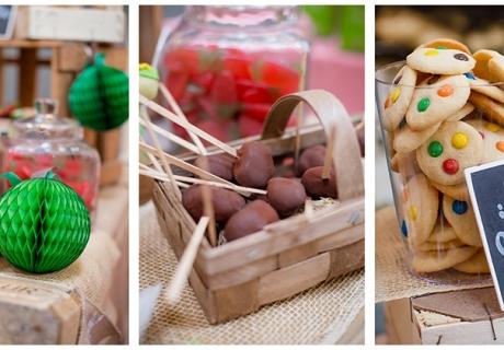 Süßkartoffeln mal anders! Und die Wabenball-Apfel passt perfekt zum ländlichen Thema